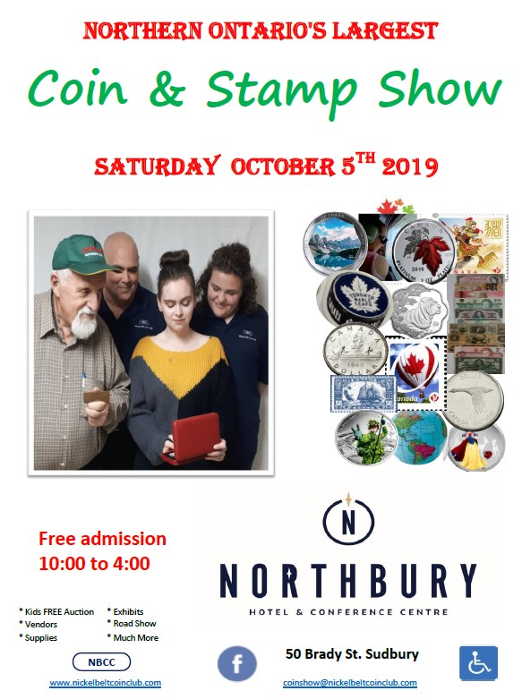 Nickel Belt Coin Club » 2019 Coins and Stamp Show